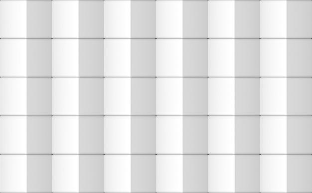 Renderização em 3d. sem costura moderna grade quadrada branca caixa padrão parede design textura.