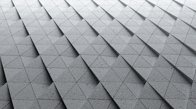 Renderização em cinema 4d de ilustração de fundo de escada geométrica em forma de losango
