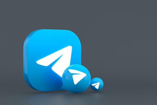 Renderização mínima do logotipo do telegram