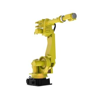 Renderização realista de um braço de robô industrial