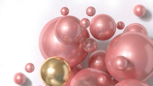 Rendição 3d abstrata do fundo da esfera cor-de-rosa
