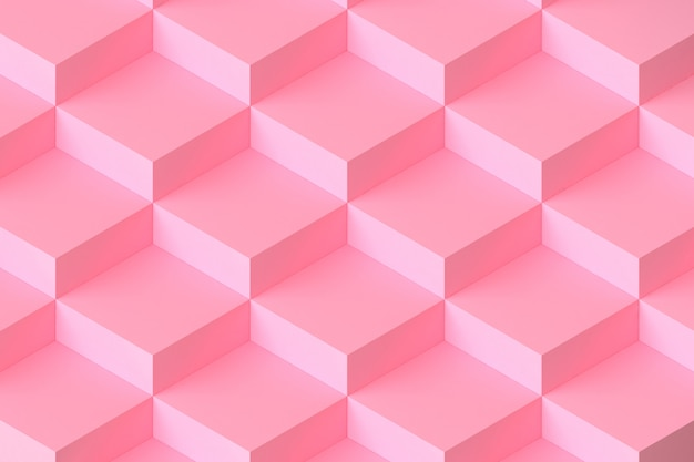 Rendição 3d abstrata modular quadrada cor-de-rosa do fundo