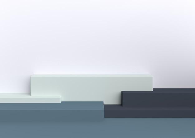 Rendição 3d de amor pastel da forma geométrica mínima.
