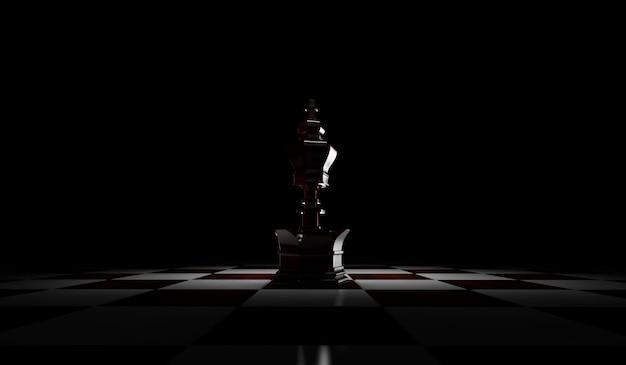 Rendição 3d de rainha das partes de xadrez. isolado no fundo branco