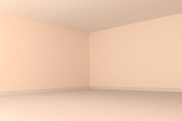 Rendição 3d interior do canto cor-de-rosa da sala