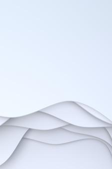Rendição 3d, papel branco abstrato cortou o projeto do fundo da arte para o molde do web site ou o molde da apresentação.