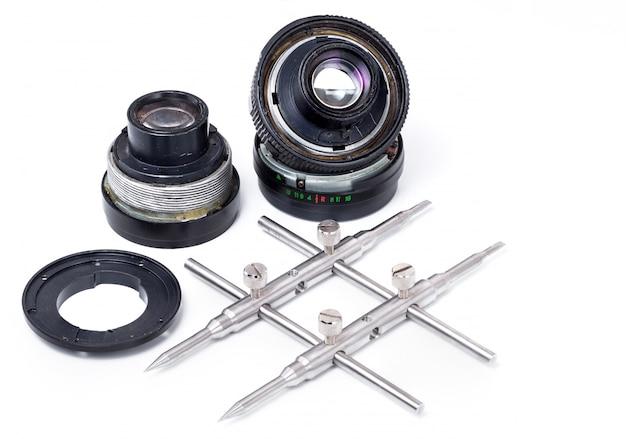 Reparo de lente de câmera