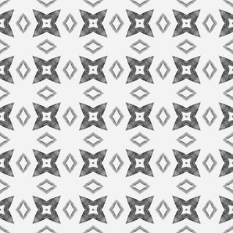 Repetindo a borda desenhada mão listrada. design chique do verão do boho legal preto e branco. desenho listrado desenhado à mão. têxtil pronto para impressão surpreendente, tecido de biquíni, papel de parede, embalagem.