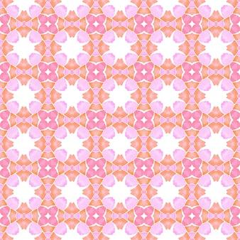 Repetindo a borda desenhada mão listrada. projeto chique do verão do boho laranja digno. têxtil pronto para impressão bonita, tecido de biquíni, papel de parede, embrulho. desenho listrado desenhado à mão.