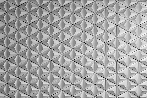 Repetindo pirâmides brancas puras. repetindo hexágonos brancos feitos de pirâmides simples.