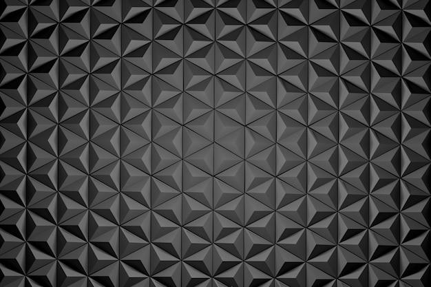 Repetindo pirâmides negras. repetindo hexágonos pretos feitos de pirâmides simples.