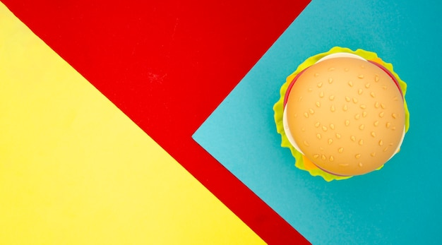 Réplica de hambúrguer com espaço de cópia