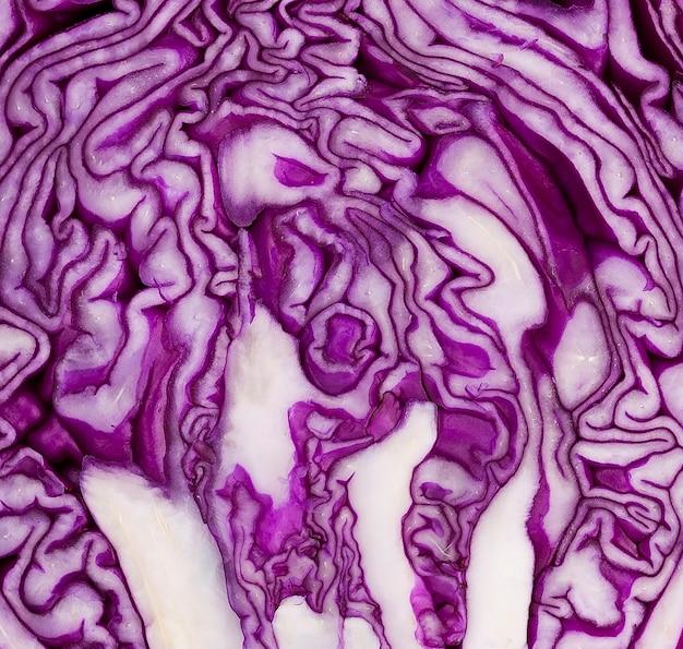 Repolho roxo saudável de close-up