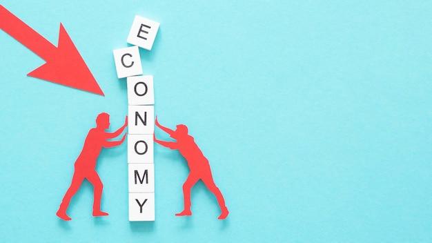 Representação abstrata da vista superior da crise financeira