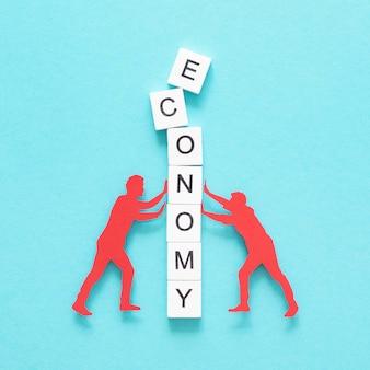 Representação abstrata plana leiga da crise financeira