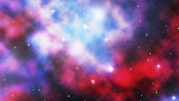 Representação artística de uma nebulosa no espaço exterior