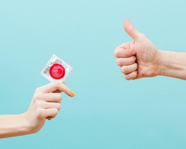 Representação do conceito de contracepção com espaço de cópia