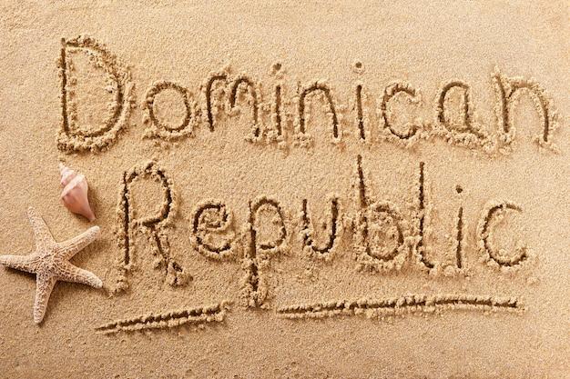 República dominicana praia escrever mensagem conceito de férias