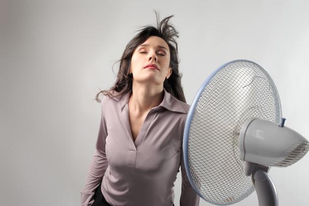 Resfriando com um ventilador