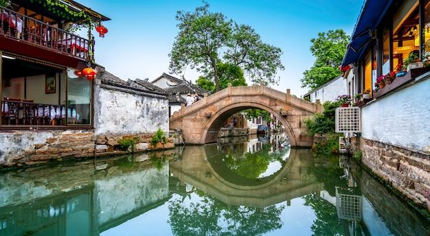 Residência em zhouzhuang ancient town, suzhou