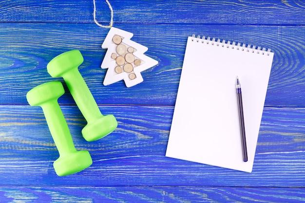 Resoluções saudáveis para o ano novo.