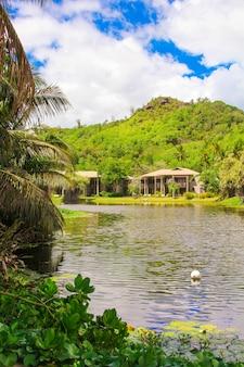 Resort exótico em um país tropical seyshelles