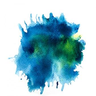 Respingo de aquarela colorido.