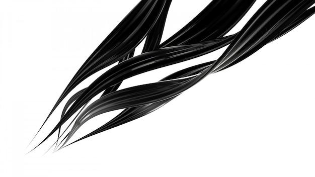 Respingo de líquido preto. renderização em 3d.
