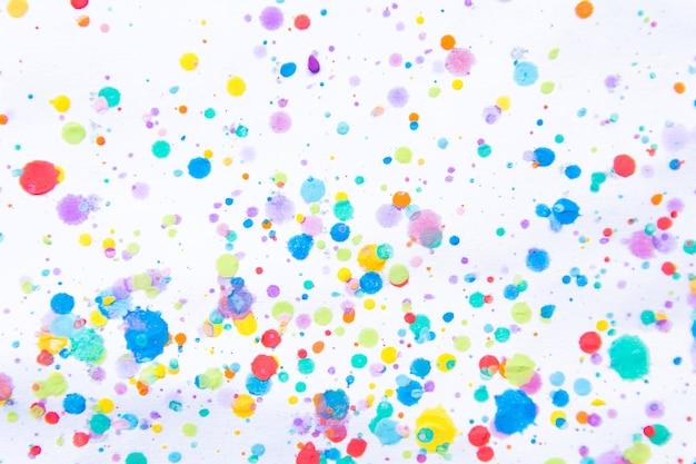 Respingo de pintura de cor de água colorida