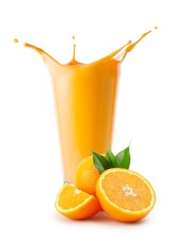 Respingo de suco de laranja ou iogurte