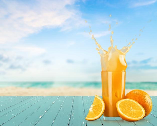 Respingo de suco de laranja