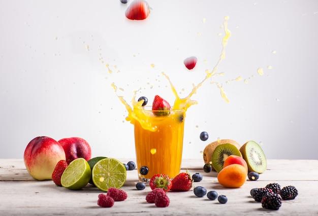 Respingo de suco de nectarina