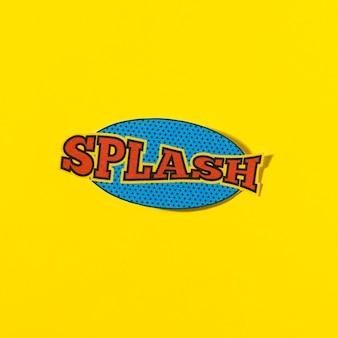Respingo de texto em quadrinhos discurso bolha vector em pano de fundo amarelo
