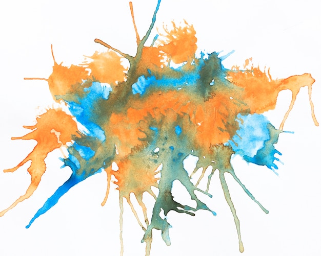 Respingo de tinta de cores misturadas