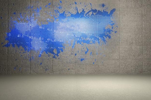 Respingo na parede, revelando o mapa do mundo