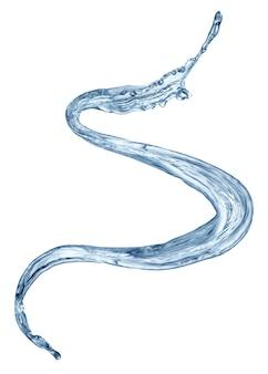 Respingos de água limpa