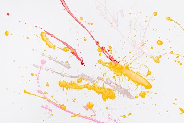 Respingos de pinturas coloridas