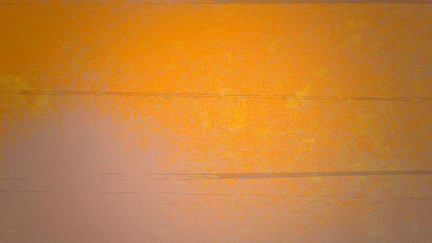 Respingos laranja abstratos e ruído, fundo escuro do grunge
