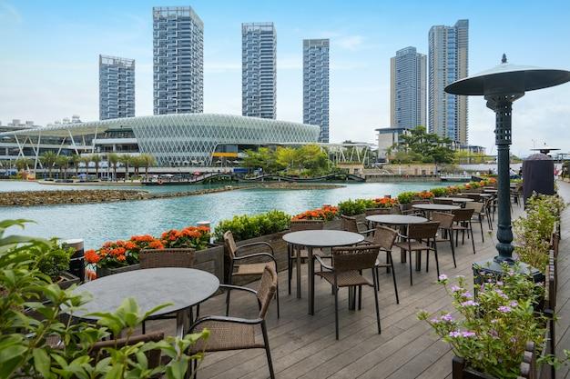 Restaurante ao ar livre em shenzhen sea world park