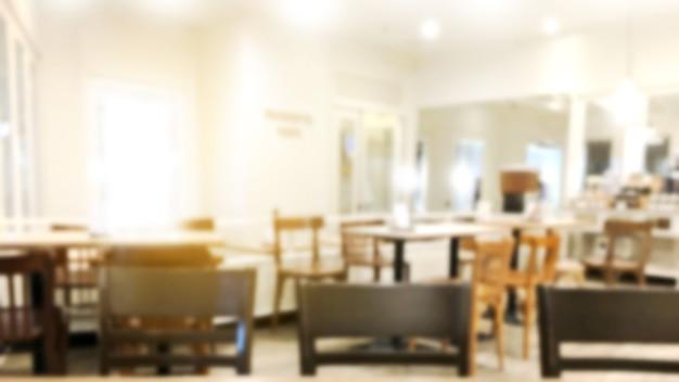 Restaurante do borrão ou loja interior do café das sobremesas.