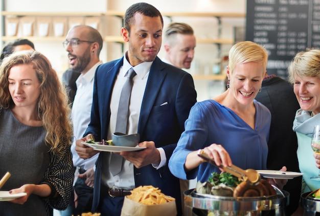 Restaurante do partido que come o conceito do tempo da refeição matinal do lançamento