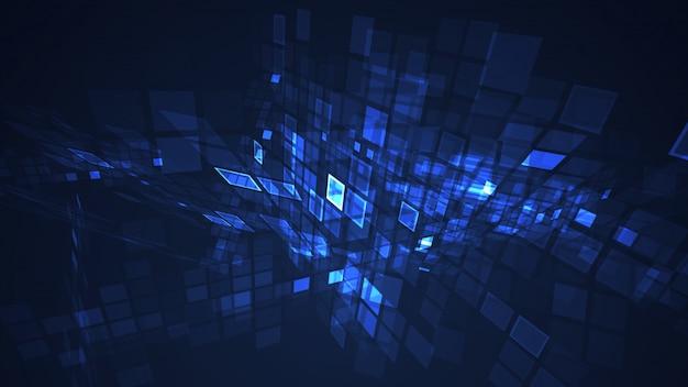 Resumo azul gráfico piscando retângulo grade perspectiva fundo
