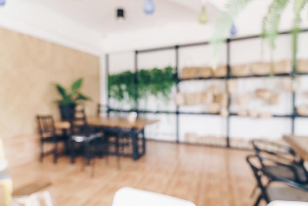 Resumo blur café ou cafeteria