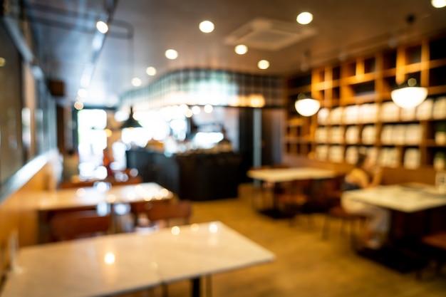 Resumo blur café restaurante para plano de fundo
