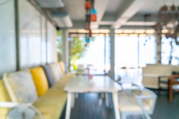 Resumo blur café restaurante para