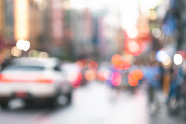 Resumo blur cidade bokeh