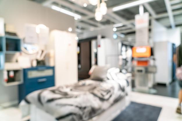 Resumo blur decoração de móveis e armazém loja interior