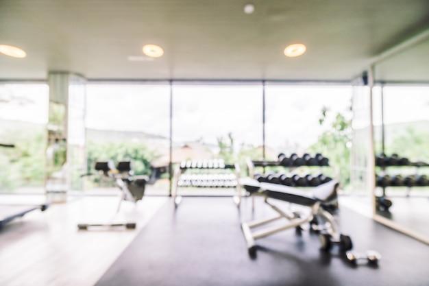 Resumo blur ginásio e sala de fitness