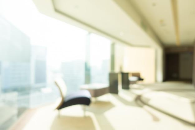 Resumo blur hotel e lobby interior para plano de fundo