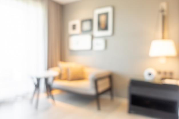 Resumo blur interior da sala de estar para o fundo
